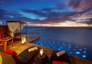 Water Villa Akşam Manzarası, Baros Maldives