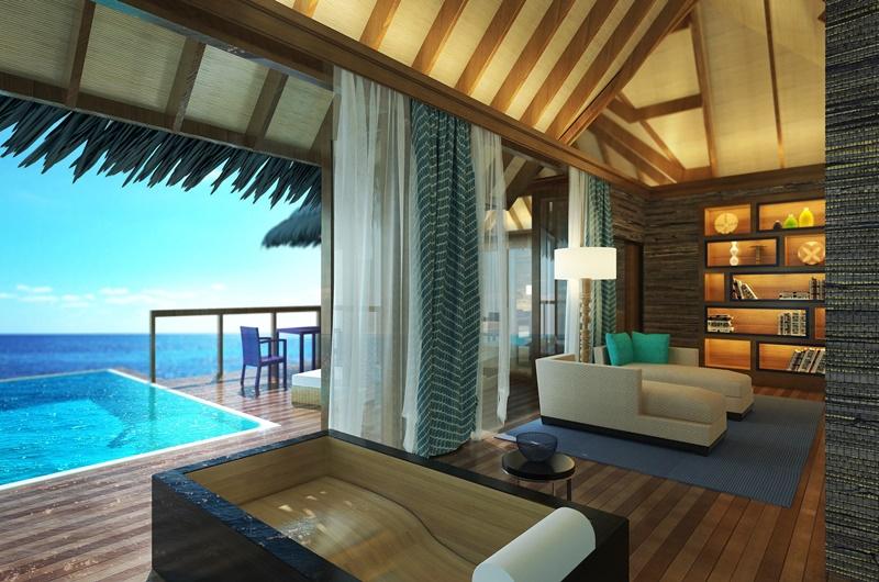 Water Villa Oturma Odası, Coco Bodu Hithi Maldivler