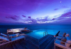 Akşam, Conrad Rangali Island Maldivler