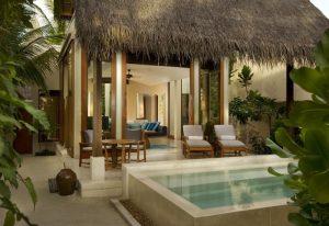 Garden Villa Bahçesi, Conrad Rangali Island Maldives