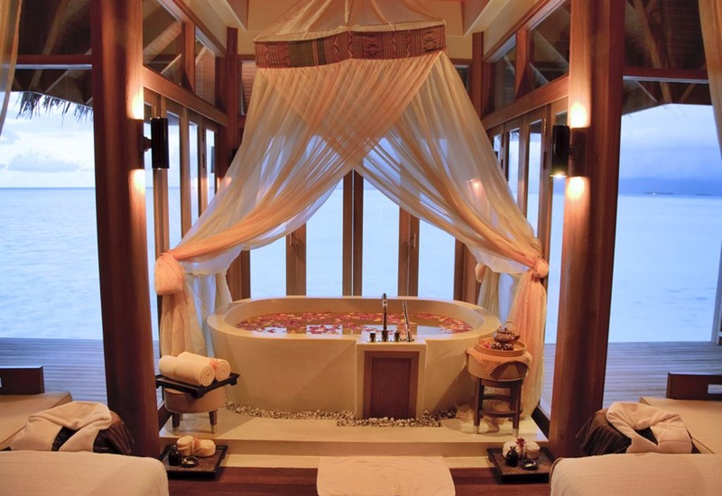 Küvet, Anantara Dhigu Resort Maldivler