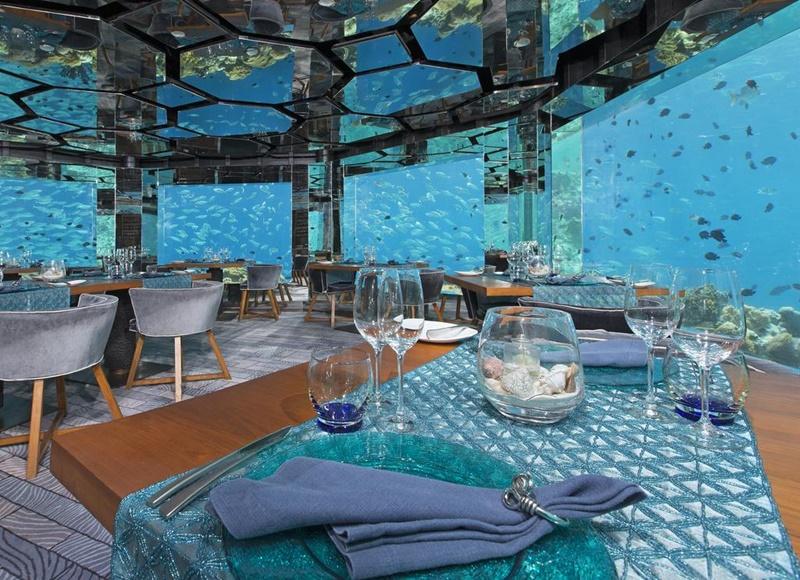 Su Altı Restoran, Anantara Kihavah Maldives Villas