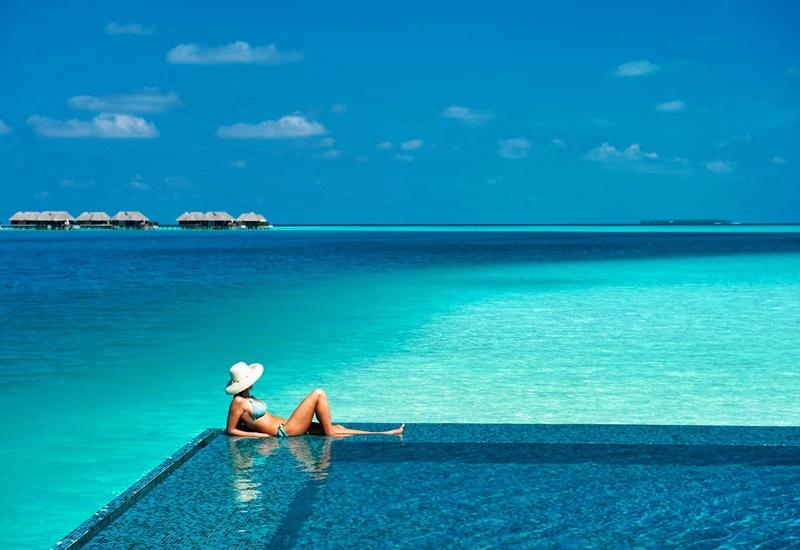 Water Villa Havuz, Conrad Rangali Island Maldivler