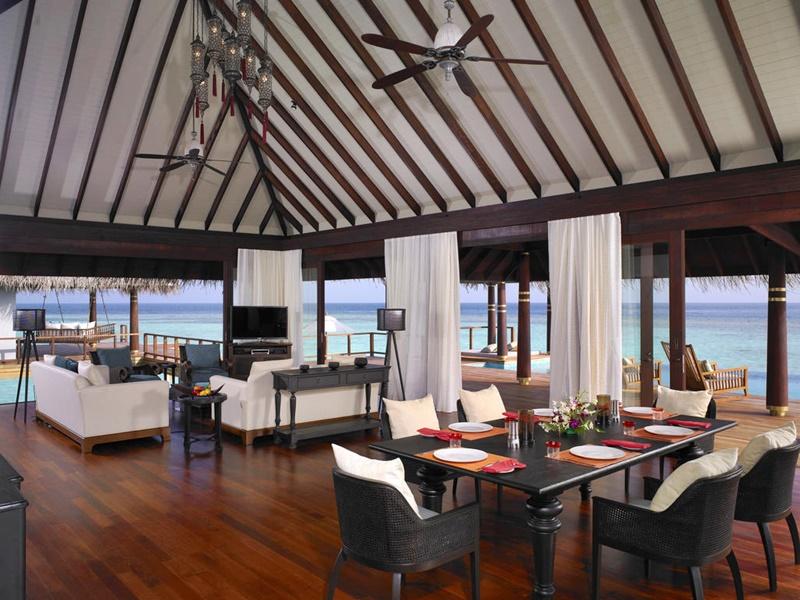 Water Villa Restoran, Anantara Kihavah Maldives Villas