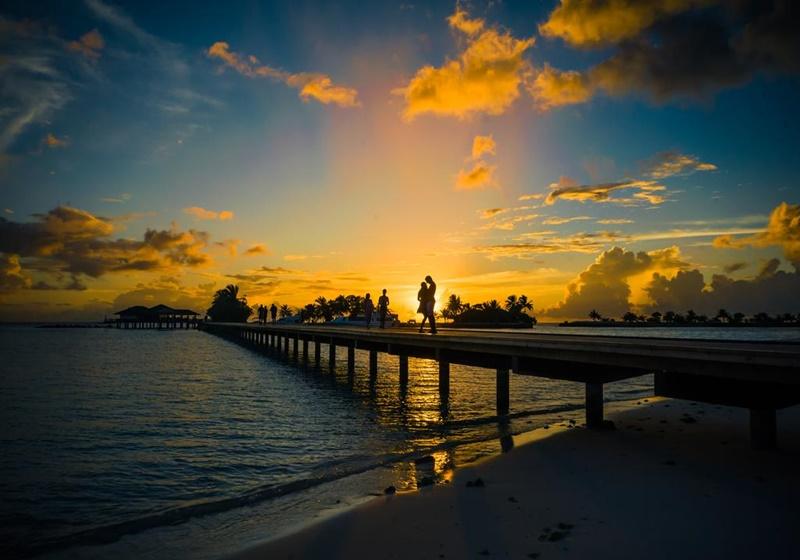 Gün Batımı, Paradise Island Resort Maldives